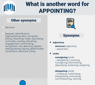 Appointing, synonym Appointing, another word for Appointing, words like Appointing, thesaurus Appointing