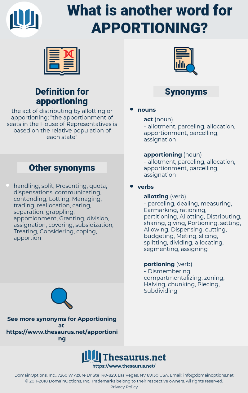apportioning, synonym apportioning, another word for apportioning, words like apportioning, thesaurus apportioning