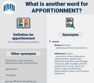 apportionment, synonym apportionment, another word for apportionment, words like apportionment, thesaurus apportionment