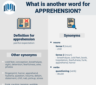 apprehension, synonym apprehension, another word for apprehension, words like apprehension, thesaurus apprehension
