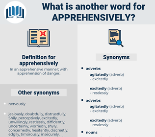 apprehensively, synonym apprehensively, another word for apprehensively, words like apprehensively, thesaurus apprehensively