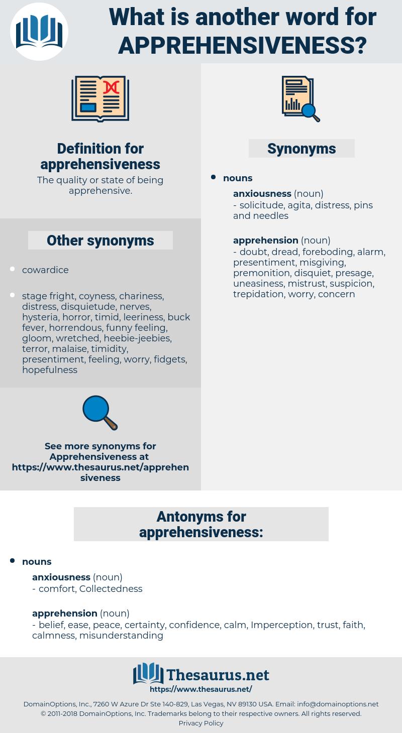 apprehensiveness, synonym apprehensiveness, another word for apprehensiveness, words like apprehensiveness, thesaurus apprehensiveness