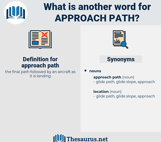 approach path, synonym approach path, another word for approach path, words like approach path, thesaurus approach path