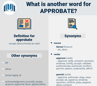 approbate, synonym approbate, another word for approbate, words like approbate, thesaurus approbate