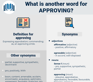 approving, synonym approving, another word for approving, words like approving, thesaurus approving