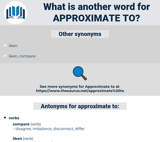 approximate to, synonym approximate to, another word for approximate to, words like approximate to, thesaurus approximate to