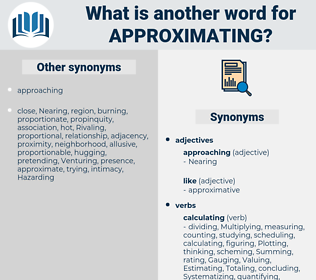 Approximating, synonym Approximating, another word for Approximating, words like Approximating, thesaurus Approximating