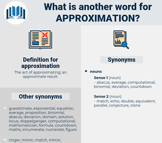 approximation, synonym approximation, another word for approximation, words like approximation, thesaurus approximation
