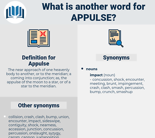 Appulse, synonym Appulse, another word for Appulse, words like Appulse, thesaurus Appulse