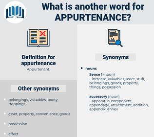 appurtenance, synonym appurtenance, another word for appurtenance, words like appurtenance, thesaurus appurtenance