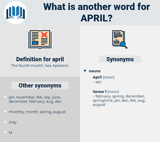 april, synonym april, another word for april, words like april, thesaurus april