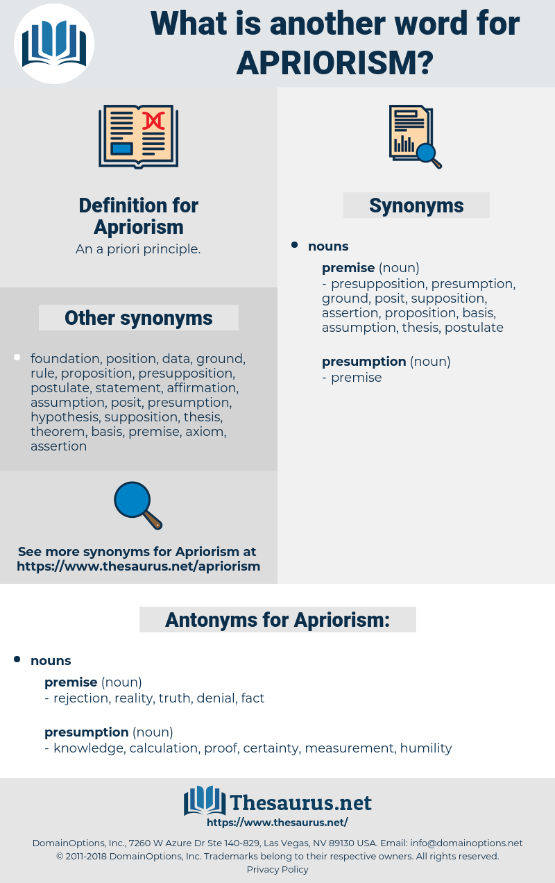 Apriorism, synonym Apriorism, another word for Apriorism, words like Apriorism, thesaurus Apriorism