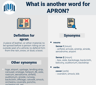 apron, synonym apron, another word for apron, words like apron, thesaurus apron
