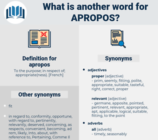 apropos, synonym apropos, another word for apropos, words like apropos, thesaurus apropos