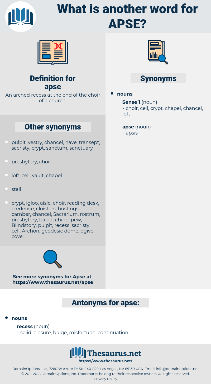 apse, synonym apse, another word for apse, words like apse, thesaurus apse