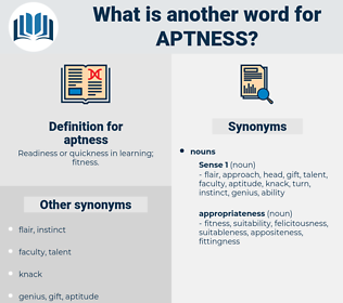 aptness, synonym aptness, another word for aptness, words like aptness, thesaurus aptness