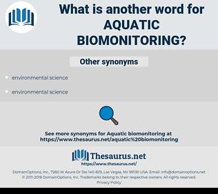 aquatic biomonitoring, synonym aquatic biomonitoring, another word for aquatic biomonitoring, words like aquatic biomonitoring, thesaurus aquatic biomonitoring