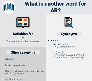 ar, synonym ar, another word for ar, words like ar, thesaurus ar