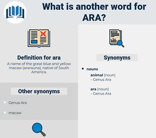 ara, synonym ara, another word for ara, words like ara, thesaurus ara
