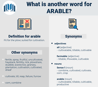 arable, synonym arable, another word for arable, words like arable, thesaurus arable