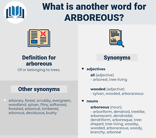arboreous, synonym arboreous, another word for arboreous, words like arboreous, thesaurus arboreous