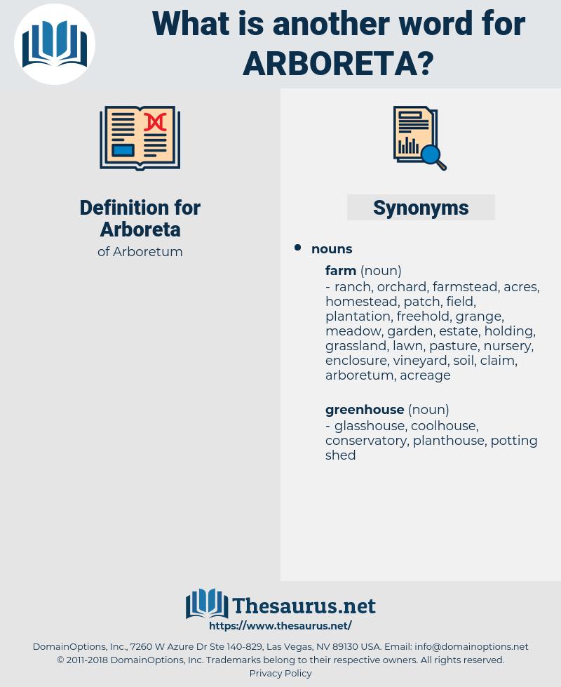 Arboreta, synonym Arboreta, another word for Arboreta, words like Arboreta, thesaurus Arboreta