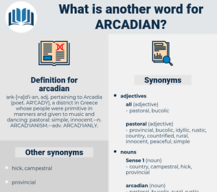 arcadian, synonym arcadian, another word for arcadian, words like arcadian, thesaurus arcadian
