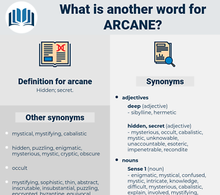 arcane, synonym arcane, another word for arcane, words like arcane, thesaurus arcane