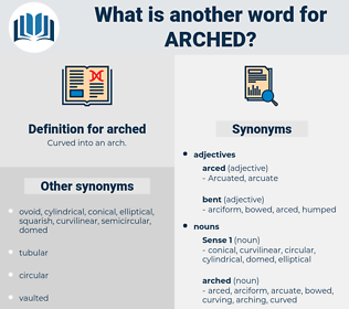 arched, synonym arched, another word for arched, words like arched, thesaurus arched