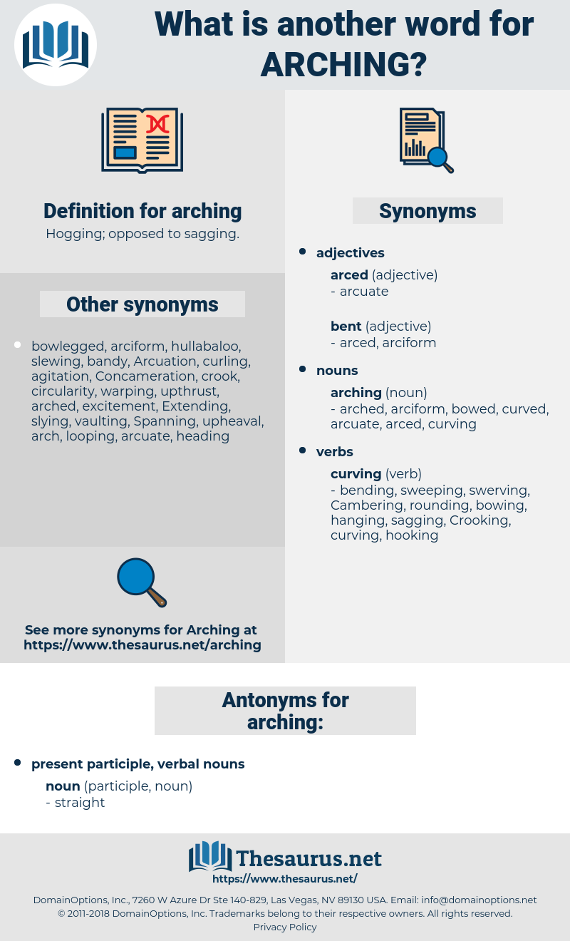 arching, synonym arching, another word for arching, words like arching, thesaurus arching