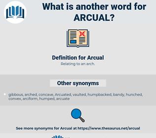 Arcual, synonym Arcual, another word for Arcual, words like Arcual, thesaurus Arcual