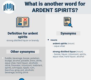 ardent spirits, synonym ardent spirits, another word for ardent spirits, words like ardent spirits, thesaurus ardent spirits