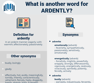 ardently, synonym ardently, another word for ardently, words like ardently, thesaurus ardently