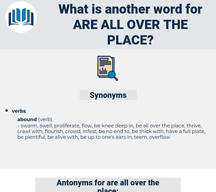 are all over the place, synonym are all over the place, another word for are all over the place, words like are all over the place, thesaurus are all over the place