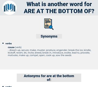 are at the bottom of, synonym are at the bottom of, another word for are at the bottom of, words like are at the bottom of, thesaurus are at the bottom of