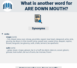 are down mouth, synonym are down mouth, another word for are down mouth, words like are down mouth, thesaurus are down mouth