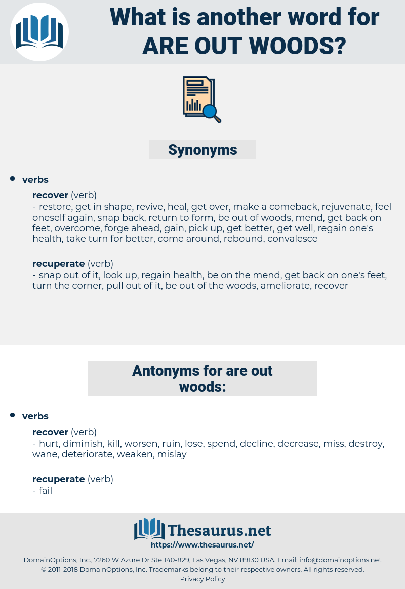 are out woods, synonym are out woods, another word for are out woods, words like are out woods, thesaurus are out woods