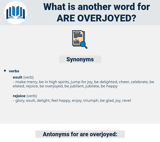 are overjoyed, synonym are overjoyed, another word for are overjoyed, words like are overjoyed, thesaurus are overjoyed