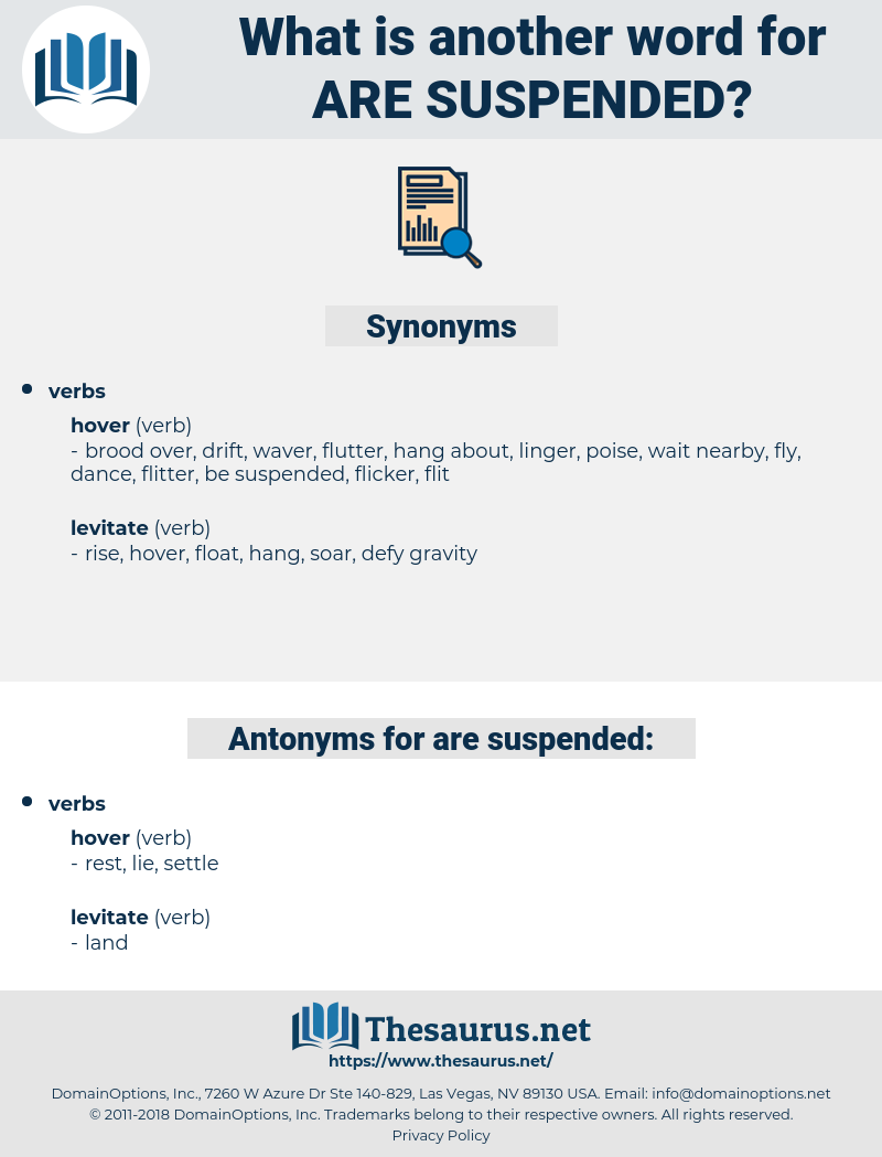 are suspended, synonym are suspended, another word for are suspended, words like are suspended, thesaurus are suspended