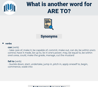 are to, synonym are to, another word for are to, words like are to, thesaurus are to