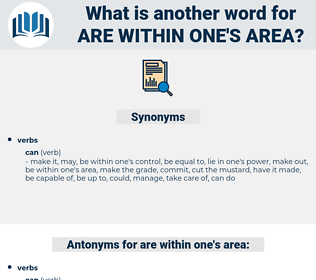 are within one's area, synonym are within one's area, another word for are within one's area, words like are within one's area, thesaurus are within one's area