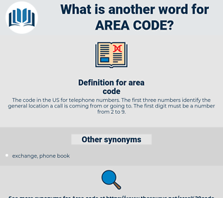 area code, synonym area code, another word for area code, words like area code, thesaurus area code