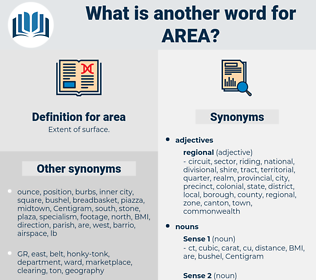 area, synonym area, another word for area, words like area, thesaurus area