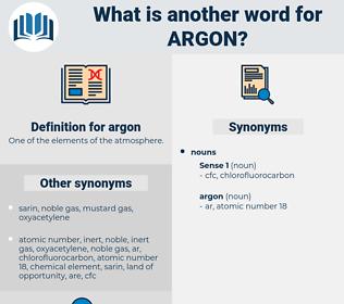 argon, synonym argon, another word for argon, words like argon, thesaurus argon