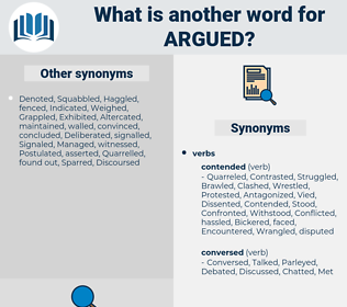Argued, synonym Argued, another word for Argued, words like Argued, thesaurus Argued
