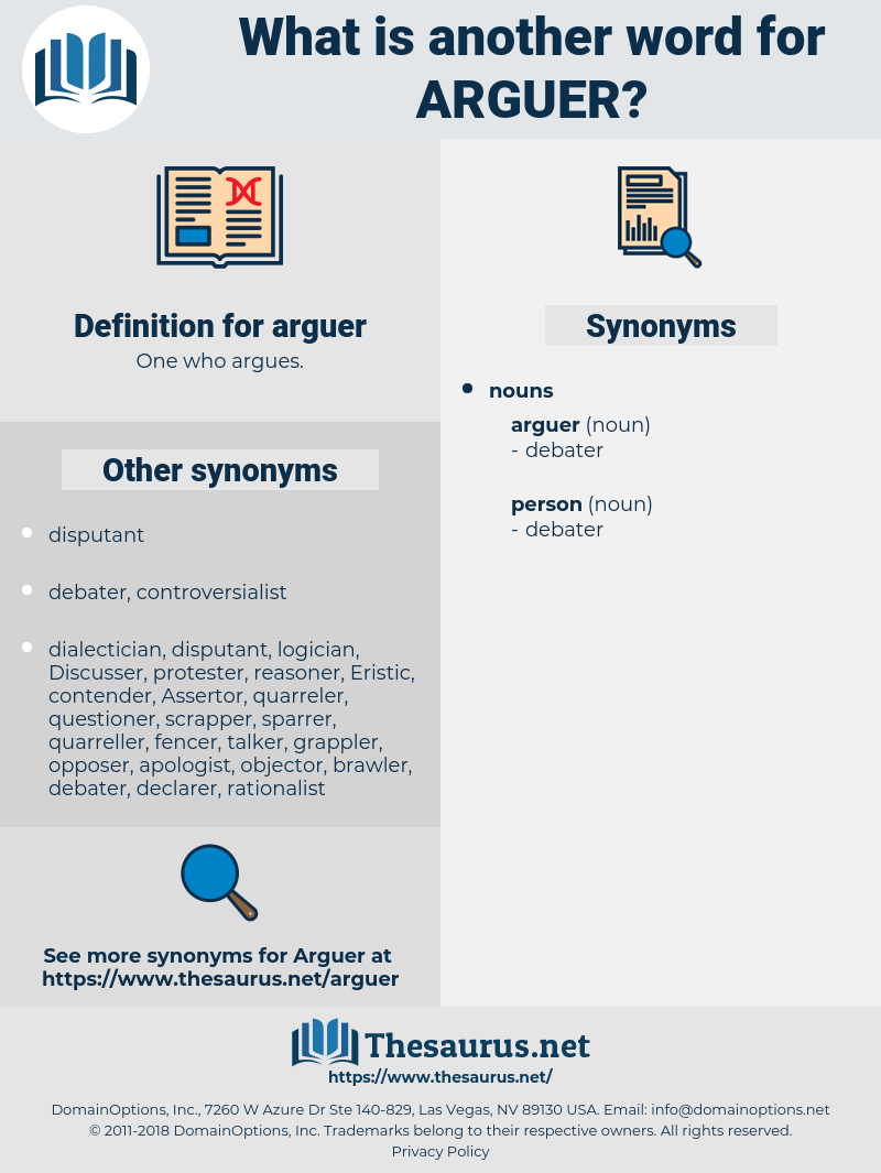 arguer, synonym arguer, another word for arguer, words like arguer, thesaurus arguer