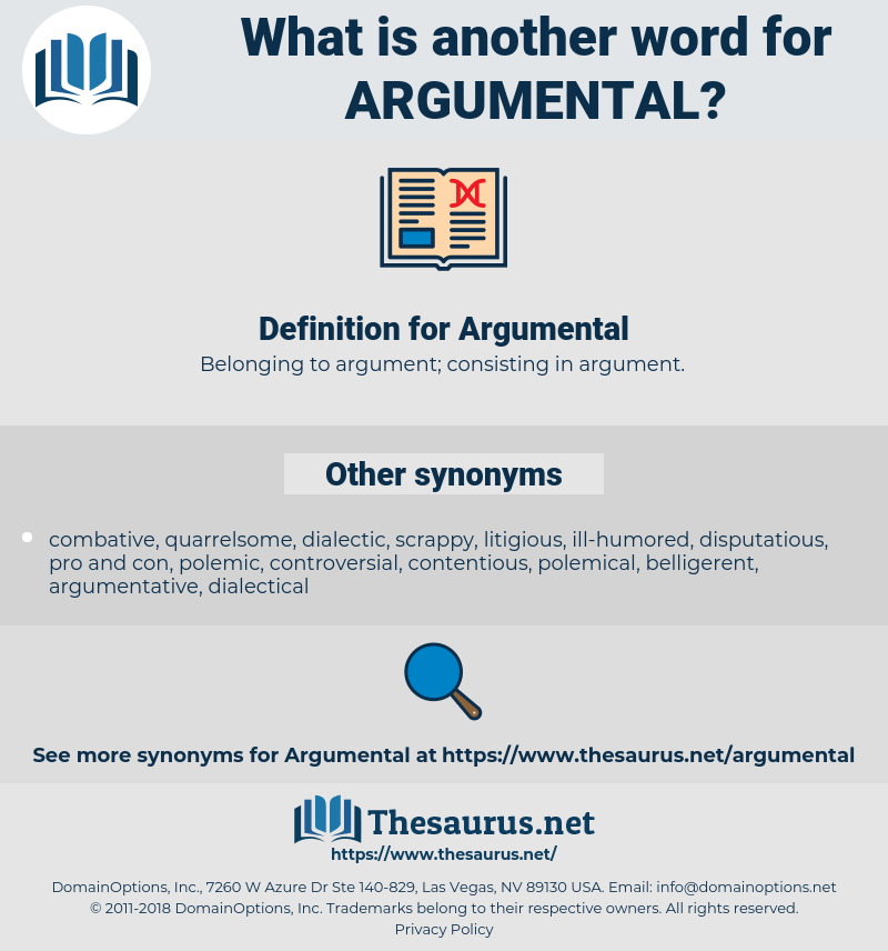 Argumental, synonym Argumental, another word for Argumental, words like Argumental, thesaurus Argumental