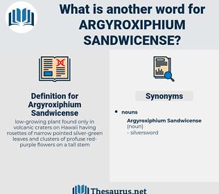 Argyroxiphium Sandwicense, synonym Argyroxiphium Sandwicense, another word for Argyroxiphium Sandwicense, words like Argyroxiphium Sandwicense, thesaurus Argyroxiphium Sandwicense