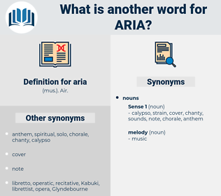 aria, synonym aria, another word for aria, words like aria, thesaurus aria