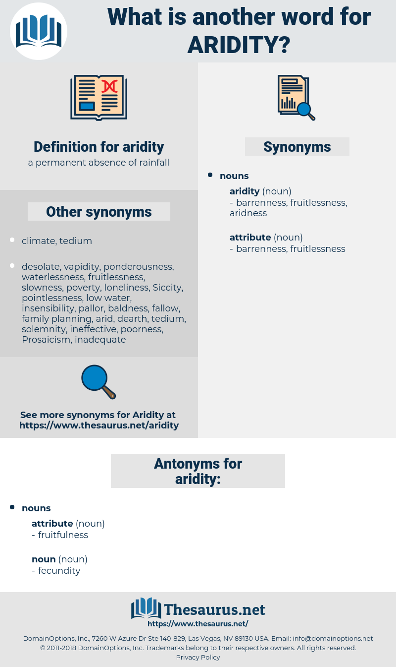 aridity, synonym aridity, another word for aridity, words like aridity, thesaurus aridity